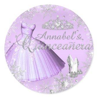 Purple Sparkle Dress & Tiara Sticker