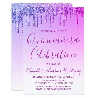 Purple Sparkle Glitter Celebration