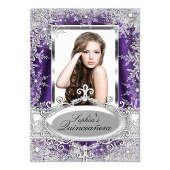 Purple Sparkle Jewel Snowflake