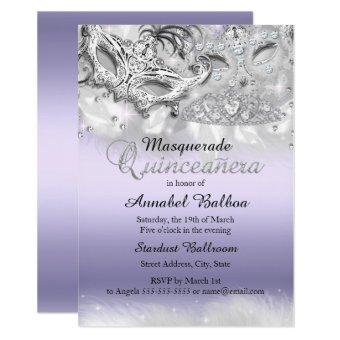 Purple Sparkle Masquerade Invite