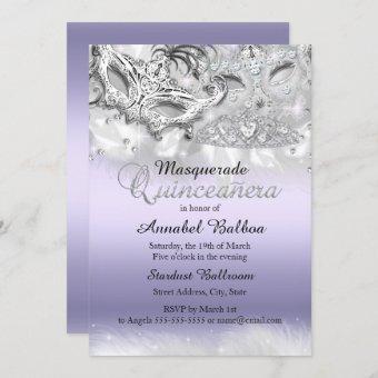 Purple Sparkle Masquerade Invite