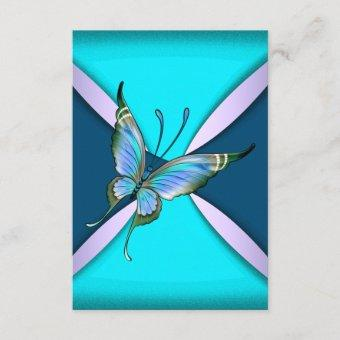 Purple Teal Butterfly RSVP Save the Date