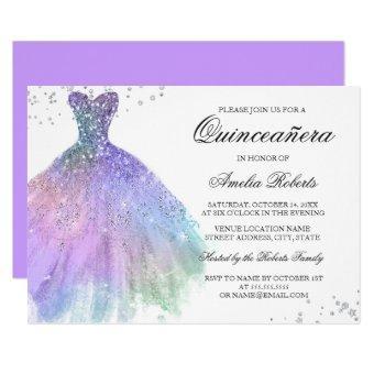 Purple Teal Sparkle Dress