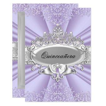 Purple Tiara & Damask Small Size