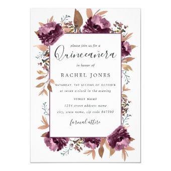Purple Watercolor Bloom Invite
