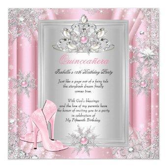 15 Birthday Light Pink Heels 2