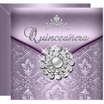 Quinceañera 15 Birthday Party Damask Lilac