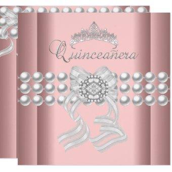 15 Tiara Pink Silver White Pearl Pink