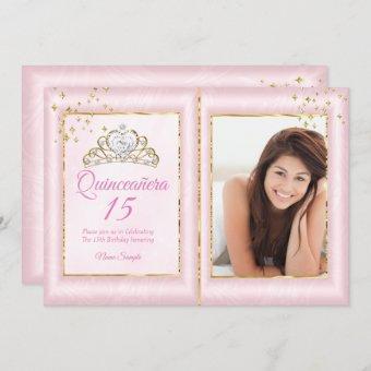 15th Birthday Blush Pink Gold Photo