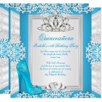 15th Birthday Cinderella Blue Heel