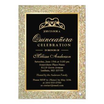 15th Birthday Gold Glitter Sparkles