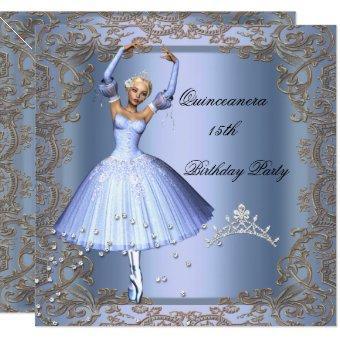 15th Birthday Party Blue Ballerina