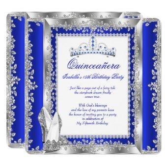 15th Birthday Party Royal Blue Silver