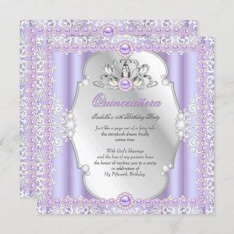 15th Birthday Pearl Purple Silver