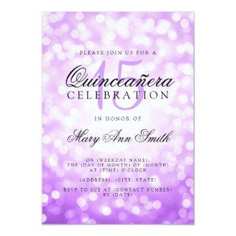 15th Birthday Purple Bokeh Lights