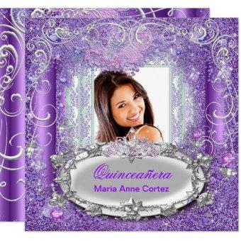 Quinceañera 15th Birthday Purple Glitter look