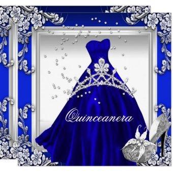 15th Birthday Royal Blue Dress Gown