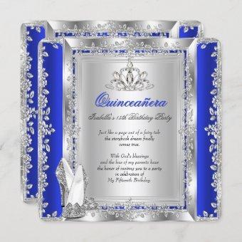 15th Birthday Royal Blue Silver Shoes