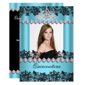 15th Blue Black White Lace Photo