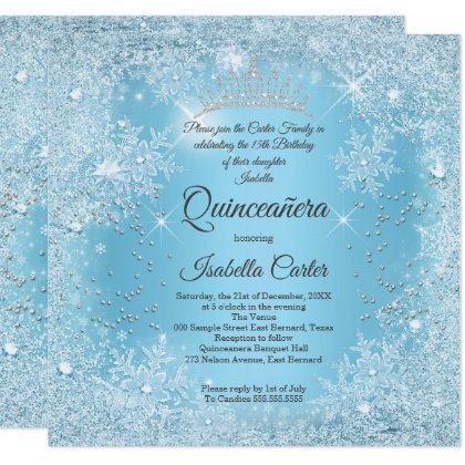 15th Blue Snowflake Winter Birthday
