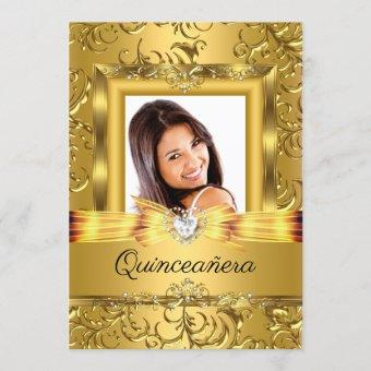 15th Gold Damask Photo Pearl