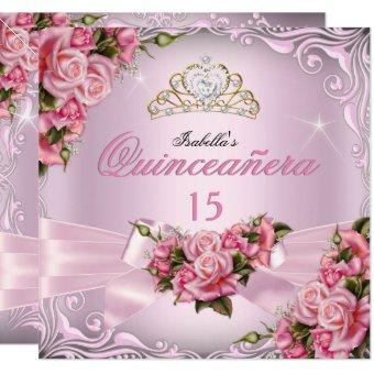 15th Pretty Pink Roses Tiara Birthday