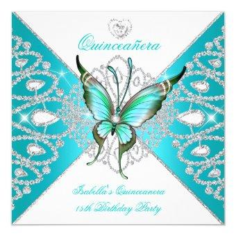 15th Pretty Teal Blue Butterfly New
