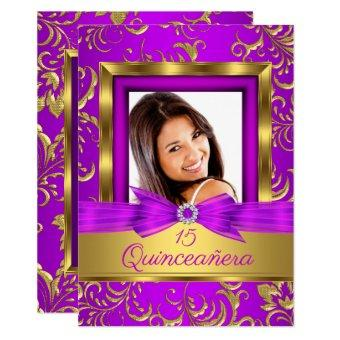 15th Purple pink Gold Damask Photo