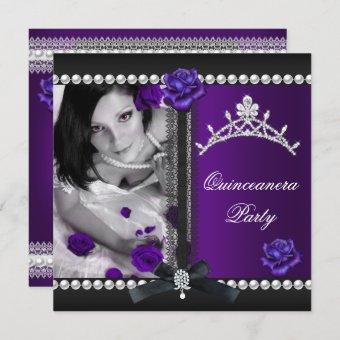 15th Purple Rose Black Pearl