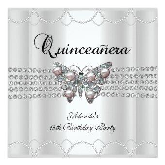 15th White Butterfly Pearl Lace