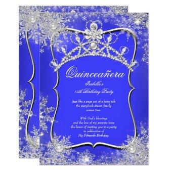 15th Winter Wonderland Royal Blue