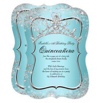 15th Winter Wonderland Silver Blue