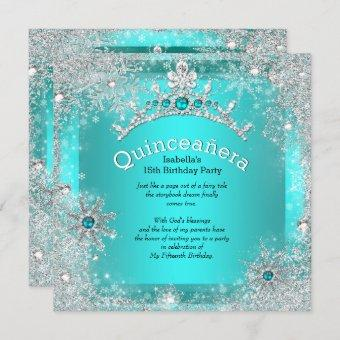 15th Winter Wonderland Silver Teal 3