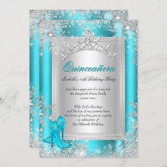 15th Winter Wonderland Teal Aqua
