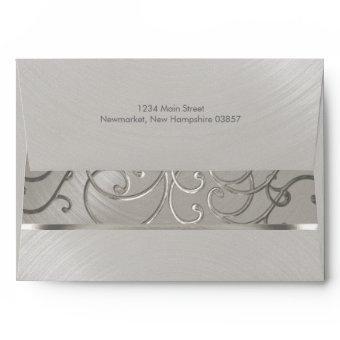 All Silver Filigree Swirls Envelope