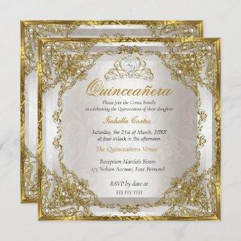 Birthday Gold Beige Pearl Damask