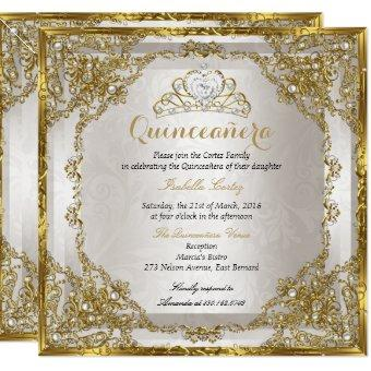 Birthday Gold Beige Pearl Damask