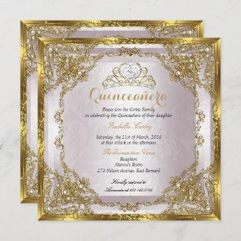 Birthday Gold Pearl Pink Damask