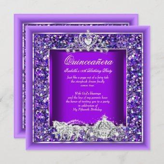 Birthday Horse Carriage Purple