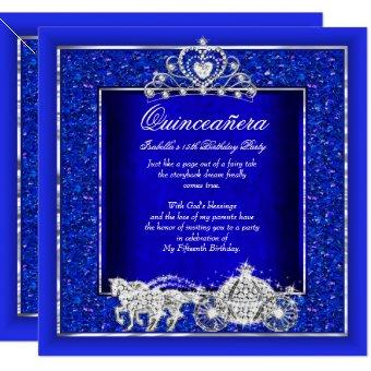 Birthday Horse Carriage Royal Blue