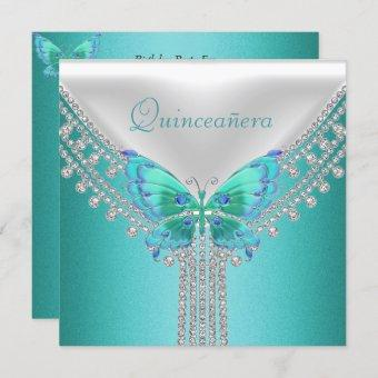 Quinceañera Birthday Party Blue White Butterfly