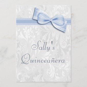 Quinceañera Birthday Party Damask and Faux Bow