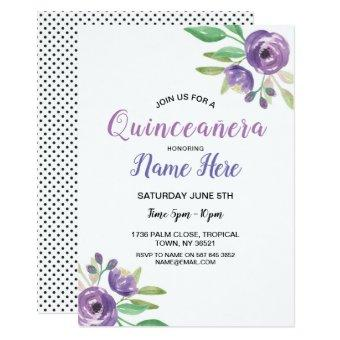 Quinceañera Birthday Party Flower Lilac
