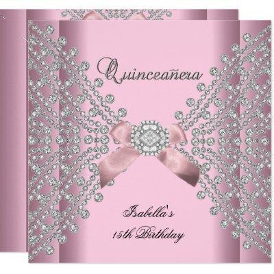 Birthday Party Pink White Diamonds