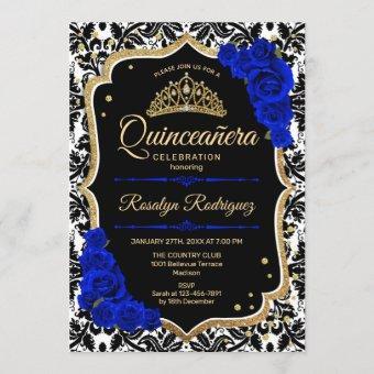 Black Royal Blue Gold