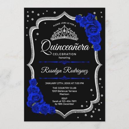 Black Silver Royal Blue