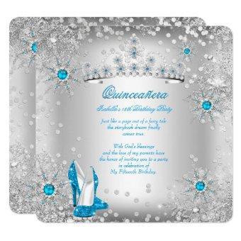 Blue Silver Winter Wonderland