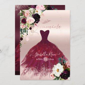 Blush Burgundy Watercolor Flowers
