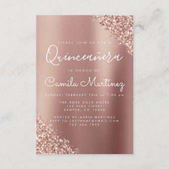 Blush Pink - Rose Gold Glitter Sparkle