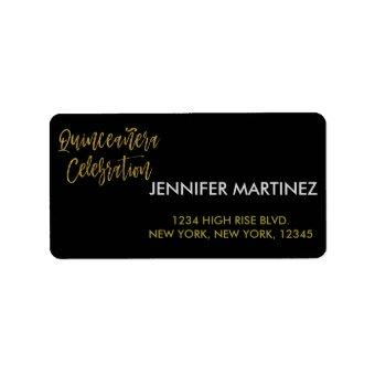 Celebration Gold Address Label